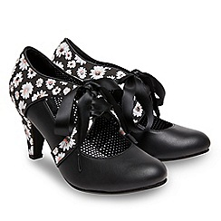 Joe Browns - Black 'Enchanting' high stiletto heel lace up shoes