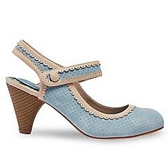 Joe Browns - Blue 'Primrose Pepperpot' high heel mary jane shoes