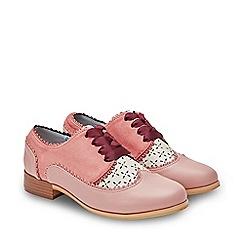 a5edeac0ea0f Joe Browns - Pale Pink  Preppy Tie  Flat Block Heel Lace Up Shoes