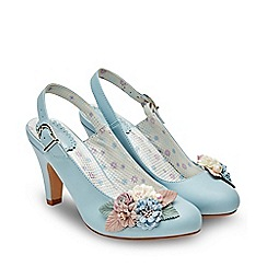 Joe Browns - Pale Blue 'Field Of Flowers' High Stiletto Court Shoes