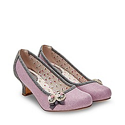 Joe Browns - Mauve 'Pretty And Prim' Mid Heel Court Shoes