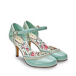 Joe Browns - Aqua Patent 'Louise's Favourite' High Stiletto Ankle Strap Shoes