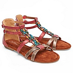 Joe Browns - Multi coloured 'Arabian Sunset' gladiator sandals