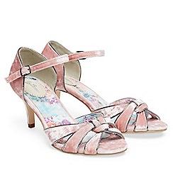 Joe Browns - Light pink 'Heaven Sent' high stiletto heel ankle strap sandals