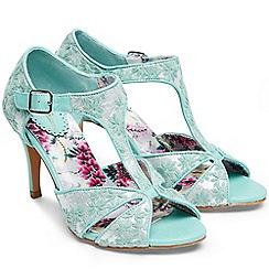 Joe Browns - Aqua 'Vanity Fair' high stiletto heel T-bar sandals