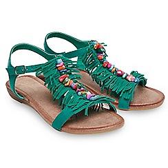 Joe Browns - Green suedette 'Castaway' T-bar sandals
