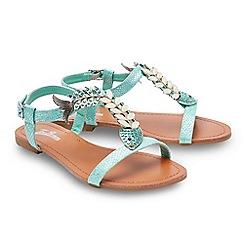 Joe Browns - Aqua 'Ocean Breeze' T-bar sandals
