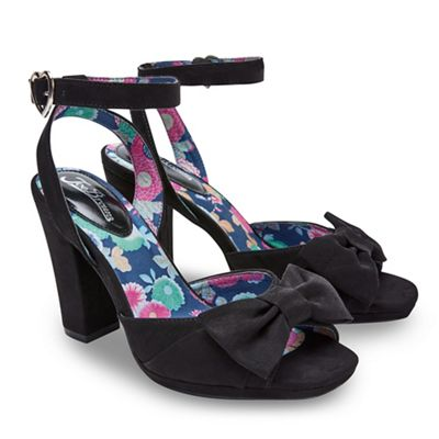 Joe Browns - Black 'My Secret Love' high block heel ankle strap sandals