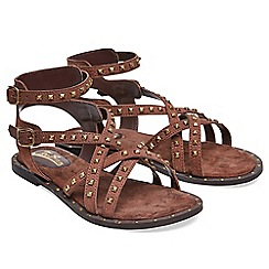 Joe Browns - Brown leather 'Lazy Days' gladiator sandals