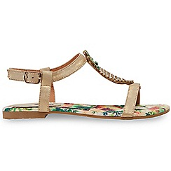 Joe Browns - Multi coloured 'Totally Tropical' T-bar sandals