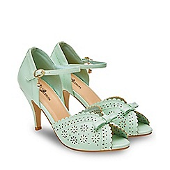 Joe Browns - Pale Green 'Dream Girl' High Stiletto T-Bar Shoes