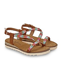 Joe Browns - Multicoloured 'Sparkle All Day' Low Wedge T-Bar Sandals
