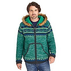 Joe Browns - Green funky fur hoody