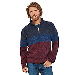 Joe Browns - Multicoloured striped 'One For The Weekend' funnel neck jumper
