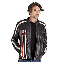 Joe Browns - Black retro stripe leather jacket