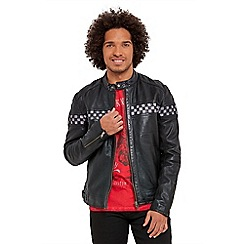 Joe Browns - Black pit stop leather jacket