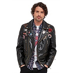 Joe Browns - Black badged up biker leather