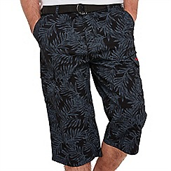 Joe Browns - Navy perfect palm shorts