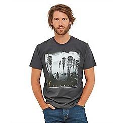 Joe Browns - Dark grey printed 'Album Cover' crew neck t-shirt
