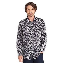 Joe Browns - Multi coloured monochrome bird shirt