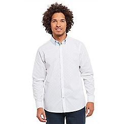 Joe Browns - White double up dobby shirt