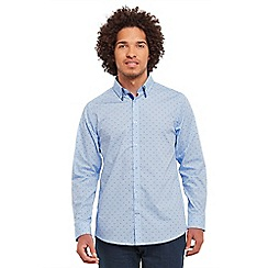 Joe Browns - Blue double up dobby shirt