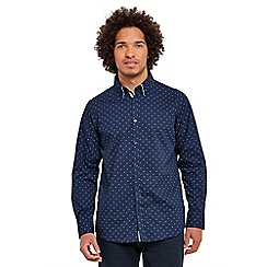 Joe Browns - Navy double up dobby shirt