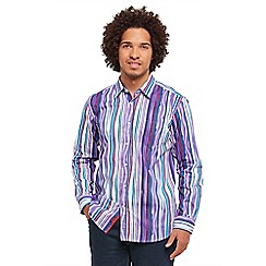 Joe Browns - Purple painted stripe shirt