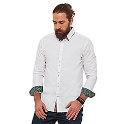 Joe Browns - White plain 'super sharp' double collar long sleeves regular fit shirt