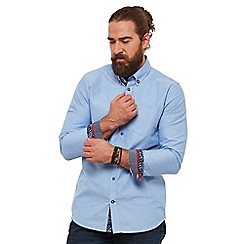 Joe Browns - Blue plain 'no ordinary oxford' long sleeves regular fit shirt