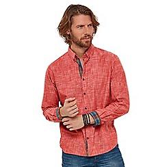 Joe Browns - Red plain 'classically cool' long sleeves regular fit shirt