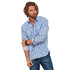 Joe Browns - Blue floral 'way more to it' classic collar long sleeves regular fit shirt