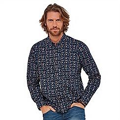 Joe Browns - Navy patterned 'all over music' long sleeves regular fit shirt