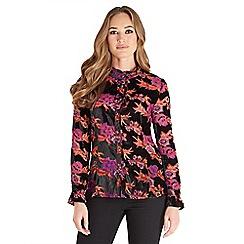 Joe Browns - Multi coloured delightful devore blouse