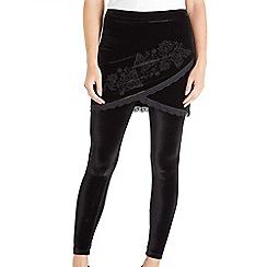 Joe Browns - Black 2 in 1 velvet leggings