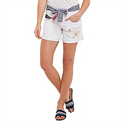 Joe Browns - White funky embroidered shorts