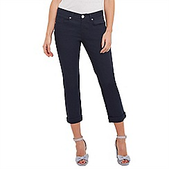 Joe Browns - Navy beautiful basic cropped trousers