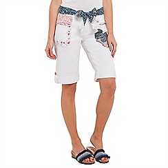 Joe Browns - White applique boyfriend shorts