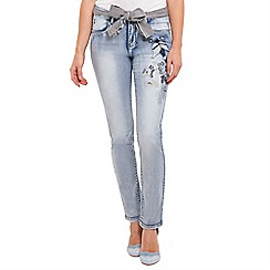 Joe Browns - Light blue embroidered bird applique jeans