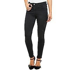 Joe Browns - Black dark applique slim jeans