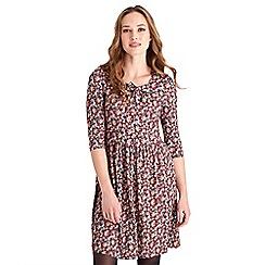 Joe Browns - Multicoloured floral print jersey 'Berry' knee length tea dress