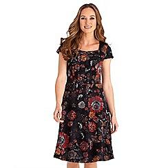 Joe Browns - Multicoloured floral print 'Effortlessly Sexy' v-neck knee length dress