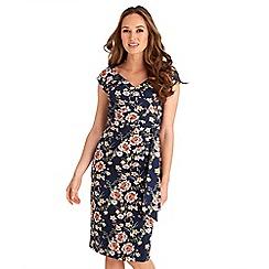 Joe Browns - Multicoloured floral print 'Sexy' v-neck knee length bodycon dress