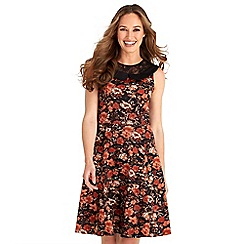 Joe Browns - Multicoloured floral print 'Into Autumn' v-neck knee length dress