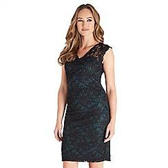 Joe Browns - Multicoloured plain lace 'Sexy' v-neck knee length bodycon dress