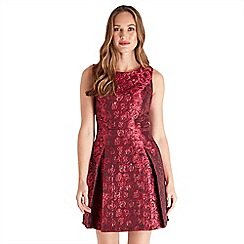 Joe Browns - Red 'Jazzy Jacquard' mini skater dress