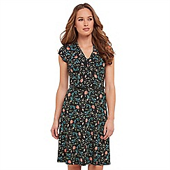 Joe Browns - Multi coloured floral print jersey 'Ditsy Vintage' V-neck knee length tea dress
