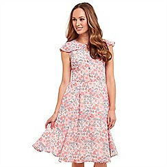 Joe Browns - Multi coloured floral print 'Garden Party' knee length tea dress