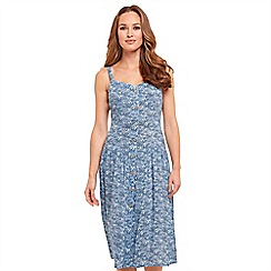 Joe Browns - Light blue floral print 'Summer Days Vintage' knee length tea dress