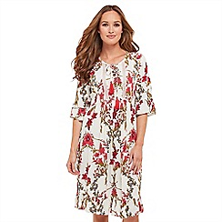 Joe Browns - Multi coloured floral print 'Be Free' knee length tea dress